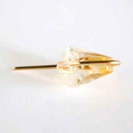 Line / Pierced Earrings  Bicolor Citrine ピアス(single)