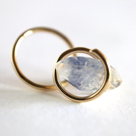 Circle / Pierced Earring  Dumortierite2  ピアス(single)