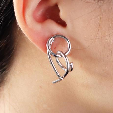 Chienowa / Clip on Earring Silver イヤリング(右耳用)
