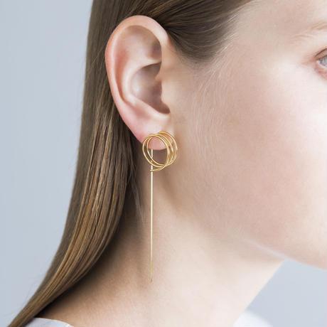 Ripple / Clip on Earring Gold イヤリング(右耳用)