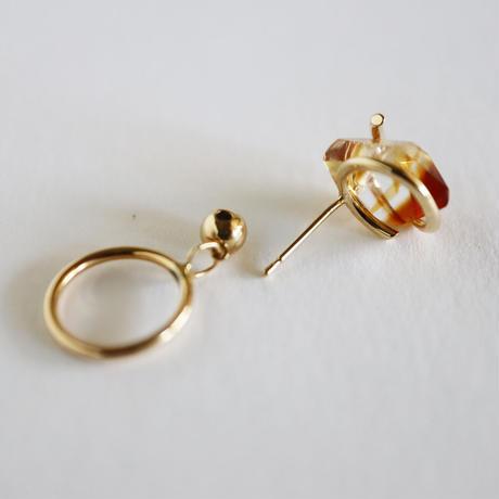 Circle / Pierced Earring Bicolor Citrine  ピアス(single)