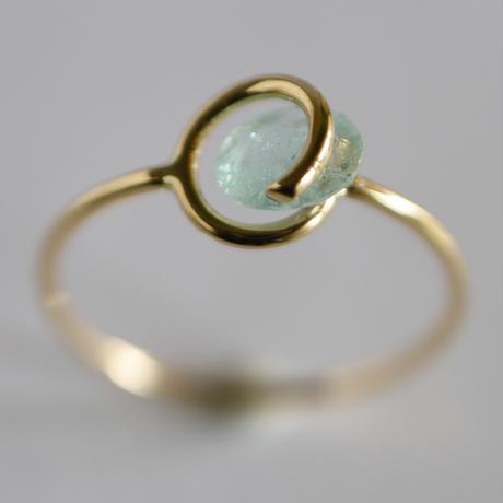 Circle ring / Paraiba Tourmaline