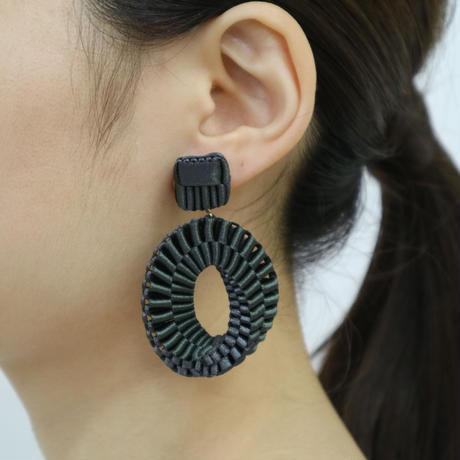 Mobius /  Pierced Earrings    Khaki ピアス