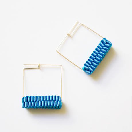 Square/  Pierced Earrings Sky Blue    ピアス