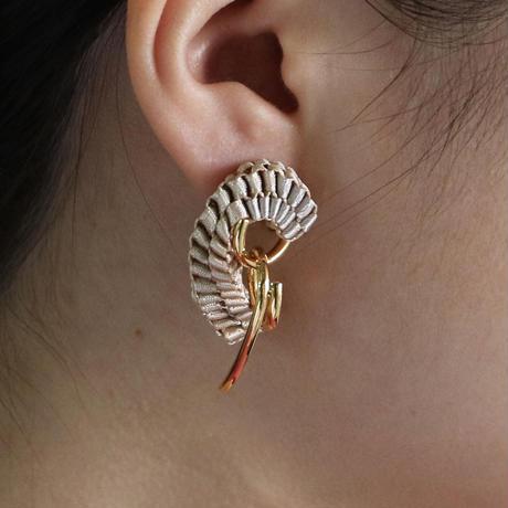 Chienowa / Pierced Earring Beige ピアス(右耳用)