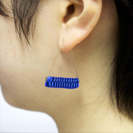 Triangle/  Pierced Earrings Blue   ピアス