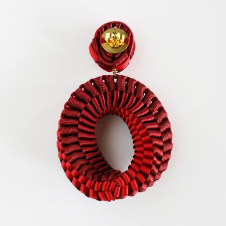 Mobius /  Pierced Earrings Red ピアス
