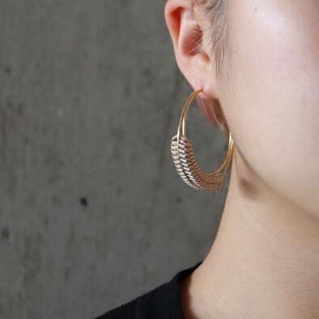 Luna / Clip on Earring  Beige イヤリング