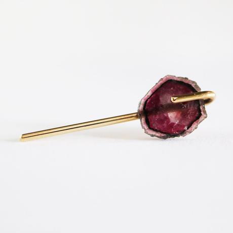 Line / Pierced Earrings  Tourmaline ピアス (single)