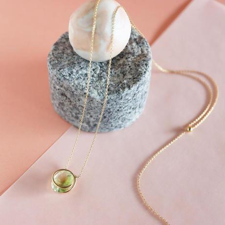 Circle / Necklace  Bicolor tourmaline