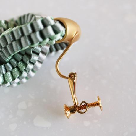 Klein bottle  / Clip on  Earring Mint  イヤリング