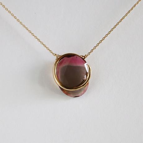 Circle / Necklace  Bicolor tourmaline  3