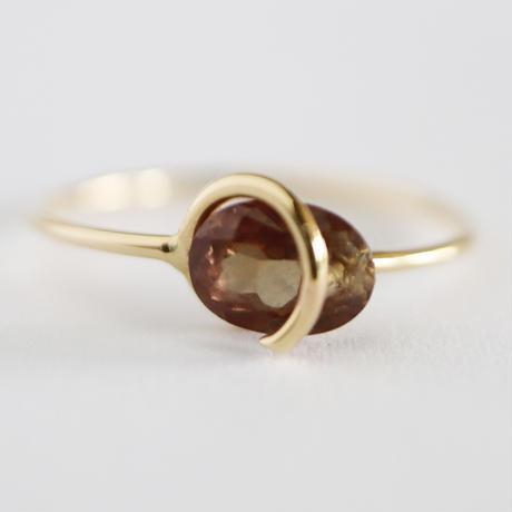 Circle ring / Color change Garnet 2