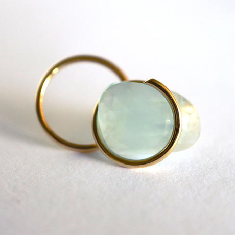 Circle / Pierced Earring  Aquamarine  ピアス(single)