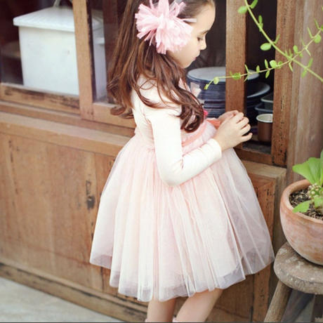 spring tulle onepiece 【pink】