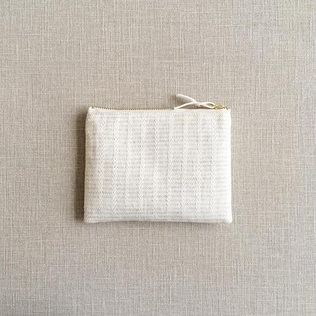 手織り布ミニポーチ (ホワイトアリニア/White Alinea Accessory case)