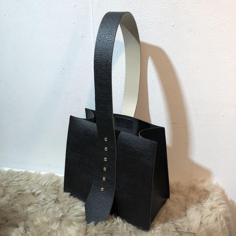 real leather studs bag