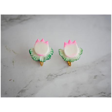 NEW WAVE  SUGAR イヤリング「Tulip」 pink x green