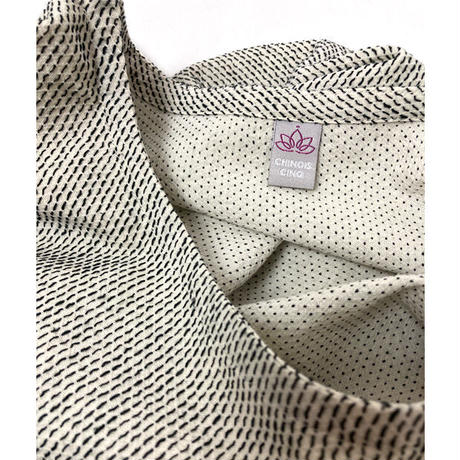再販!刺し子織り着物古布付きトップス、ゆったりサイズ