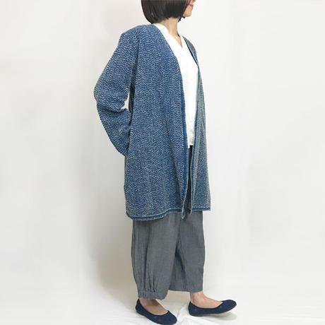 再販!L~3Lサイズ、刺し子のヘンプローブコート、ロングコート、羽織コート  のコピー