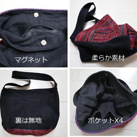 二点限定、ミャオ族のねんねこ古布の創作リメイクバッグ
