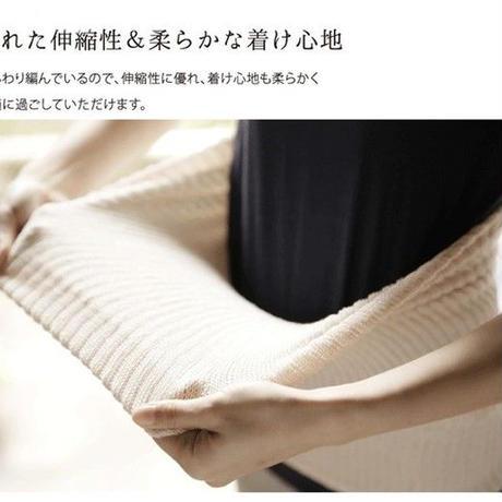 シルク素材あったか腹巻(はらまき)、絹と綿の二重構造、オールシーズン可