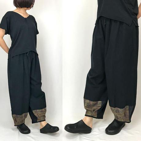 XL~XXLサイズ、ジョムトン手織り綿のもんぺ、ヤオ刺繍付きパンツ、オールシーズン