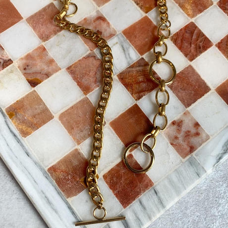 w ring necklace -gold-