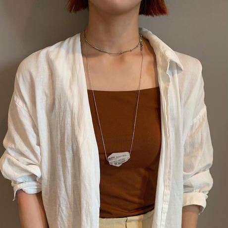 big natural stone necklace
