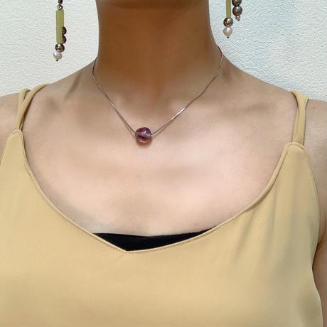kotsubu amethyst snake necklace