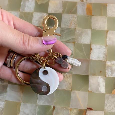 tai chi diagram key ring