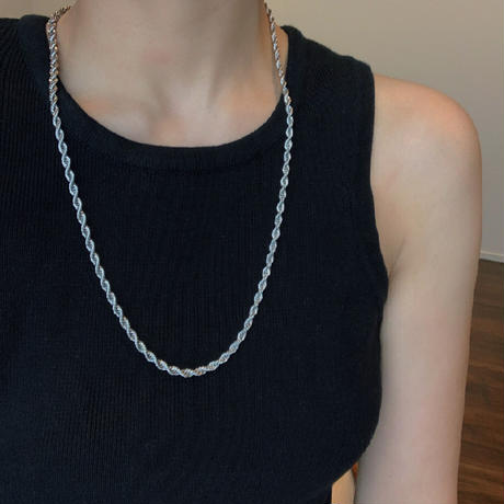 twist rope necklace