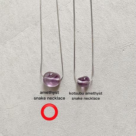 amethyst snake necklace