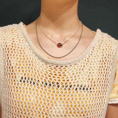 caramel sauce colour snake necklace