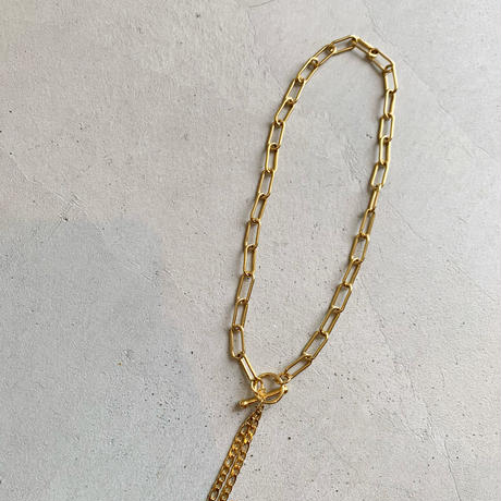 twin gold chain necklace