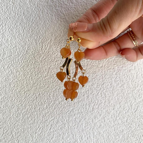 orange mini heart