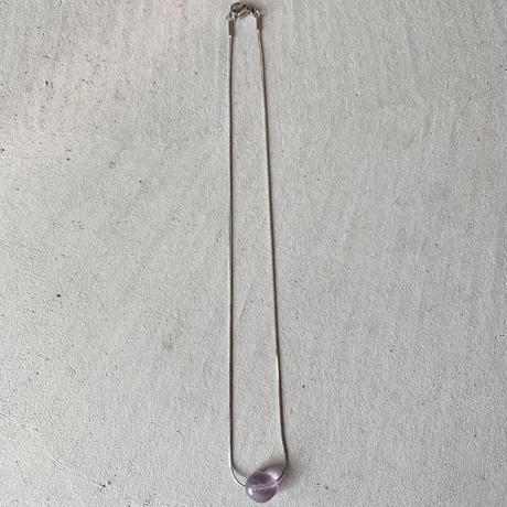 light pink purple snake necklace