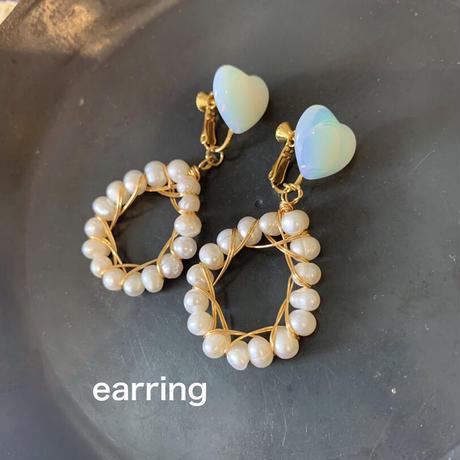 mini heart wire pearl