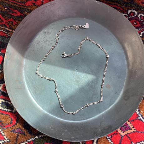 silver ball choker necklace