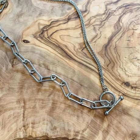 silver combi necklace