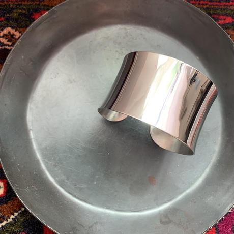 silver wide bangle