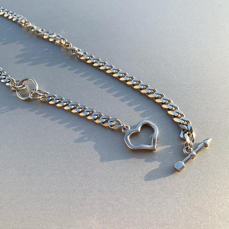 2way heart  necklace