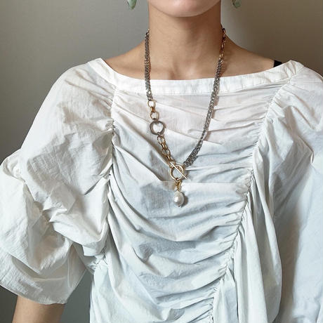 w ring necklace -mix color-