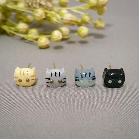 猫ピアス4匹セット