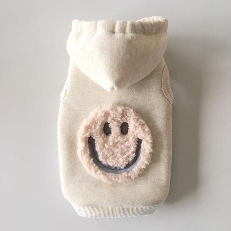 Cotton Candy SMILY 裏起毛パーカ   size: 3S, XXS, XS, (オートミール)style no.170100O