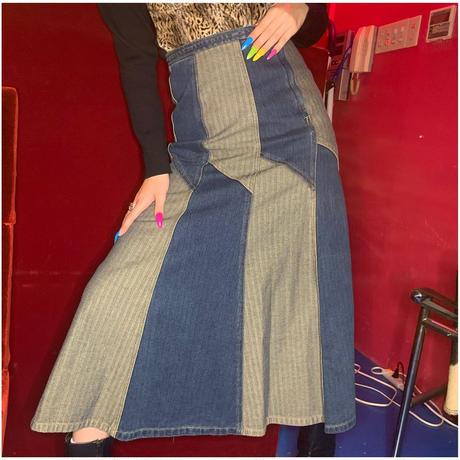 デニム何柄スカート