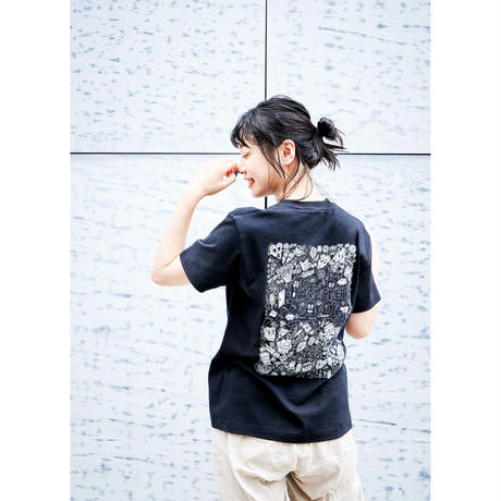Chocomoo EXHIBITION Tシャツ Bブラック