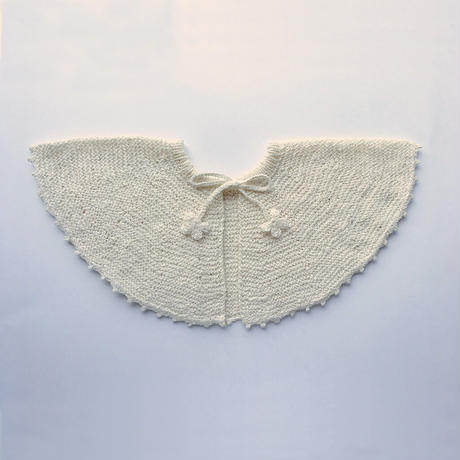 オーガニックコットン ベビーケープ  (bow tie)