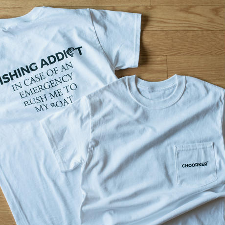 "POCKET ""FISHING ADDICT"" TEE"