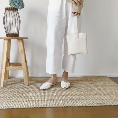 mesh flat sandal(ブラウン23.5・即納)